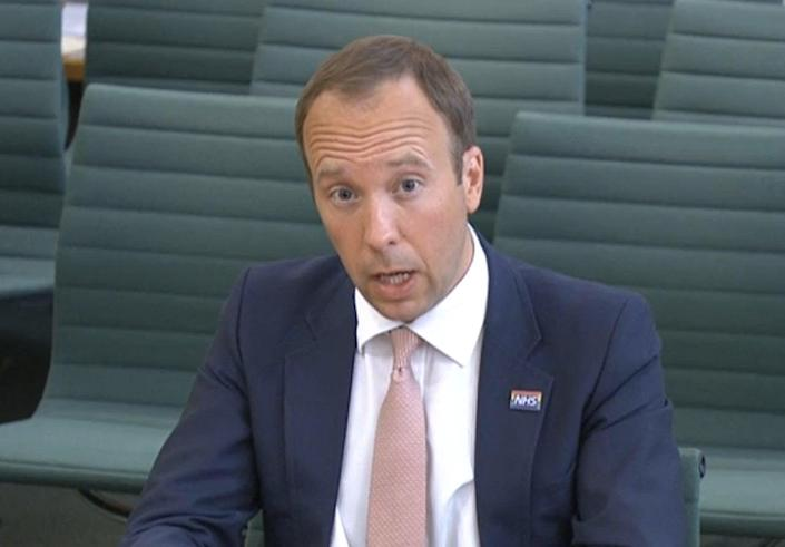 Health secretary Matt Hancock has been criticised for making untrue claims during his appearance before MPs on Thursday (AFP via Getty Images)