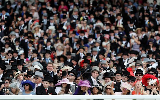 Horse Racing - Royal Ascot - Ascot Racecourse, Ascot, Britain - June 23, 2018 General view of racegoers at Ascot Racecourse Action Images via Reuters/Paul Childs