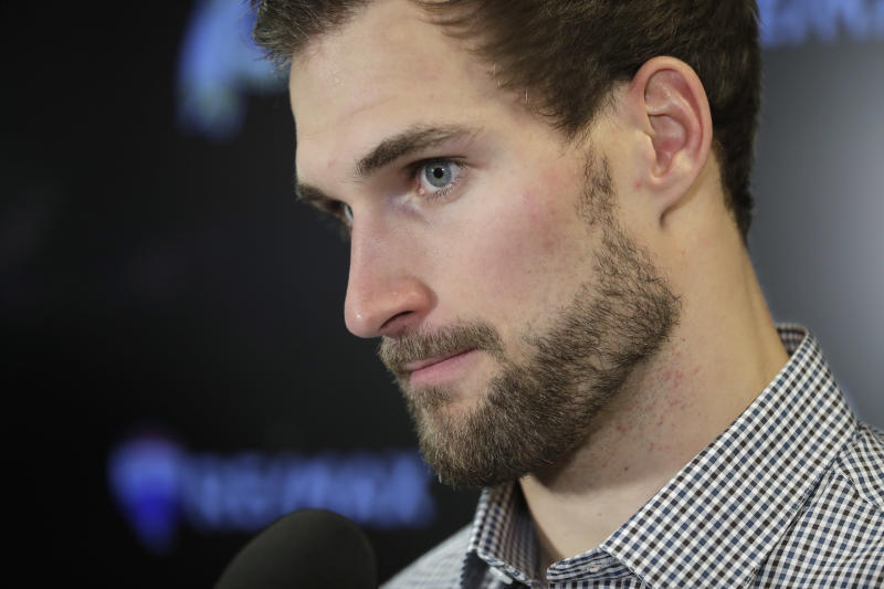 Quarterback Kirk Cousins will be on the move officially in March when free agency begins. (AP)