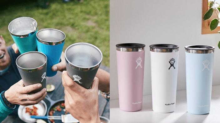 Keep your drinks hot or cold for hours upon hours with a Hydro Flask tumbler.