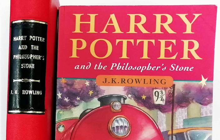 At first glance it could be a children's paperback found in any charity shop, but this copy of Harry Potter is a spellbinding find for book collectors.  See SWNS story SWMDpotter.  It is a first edition of Harry Potter and the Philosopher's Stone and it is in remarkably good shape for something presumably thumbed by a young muggle back in 1997, before films, fame and merchandise deals made Harry Potter a multi-million pound enterprise.  The copy, once £4.99, is on sale with St Mary's Books, the antiquarian bookshop in St Mary's Hill, Stamford, with a rather hefty price tag of £12,500.  A hardback first edition, also on sale at the shop, is priced £95,000. That works out at £426 per page.  The books, which won't be stored at the bookshop for security reasons,were tracked down by St Mary's book dealer Chandray Roux and shop owner Marcus Tyers, who specialises in Harry Potters, Ian Fleming novels, and Wisden cricketers' almanacks.