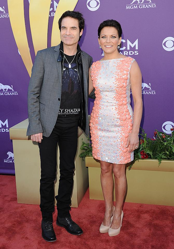 """<p class=""""MsoNormal"""">If Martina McBride's date looks familiar, there's a reason: He's Pat Monahan, the lead singer of Train. The two are set to sing a duet of the song """"Marry Me"""" during a live wedding during the show!</p>"""