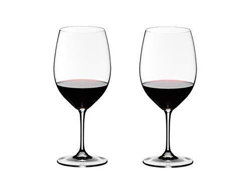 """<p><strong>Riedel</strong></p><p>amazon.com</p><p><strong>$59.00</strong></p><p><a href=""""https://www.amazon.com/dp/B000VZZ56I?tag=syn-yahoo-20&ascsubtag=%5Bartid%7C2141.g.33577070%5Bsrc%7Cyahoo-us"""" rel=""""nofollow noopener"""" target=""""_blank"""" data-ylk=""""slk:Shop Now"""" class=""""link rapid-noclick-resp"""">Shop Now</a></p><p>For a (somewhat) more affordable Bordeaux wine glass compared to #9 below, designed with merlot and sauvignon varietals in mind, we choose Riedel, whose classic Vinum wine glass was first introduced over three decades ago. The Vinum was actually the <strong>first varietal-specific machine-made glass on the market,</strong> and Cauble calls this glass the """"go-to classic stem."""" Generally, Cauble tells us, """"Bordeaux stems are taller and the mouth of the glass has less width than a Burgundy stem. This allows the aromas to be quickly delivered to the drinker,"""" which makes them ideal for darker colored wines with more oak and higher alcohol content.</p>"""