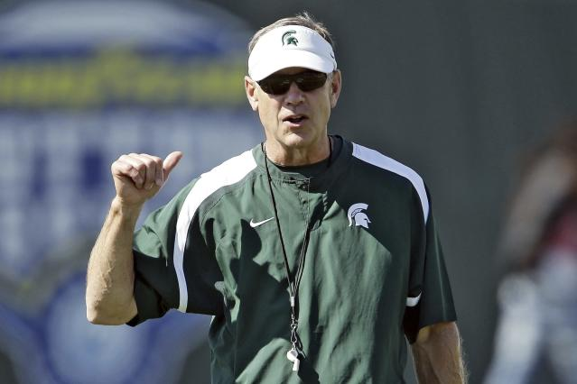 Mark Dantonio has a 90-42 record at Michigan State. (Mike Mulholland/The Ann Arbor News via AP, File)