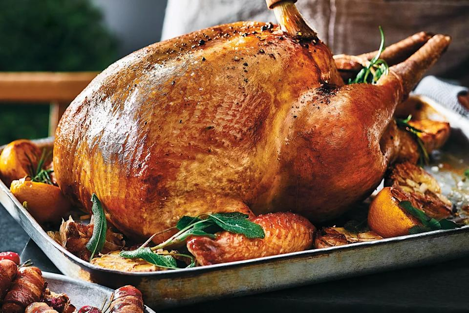 There are numerous turkeys up for grabs, with the biggest costing £117. (Marks & Spencer)