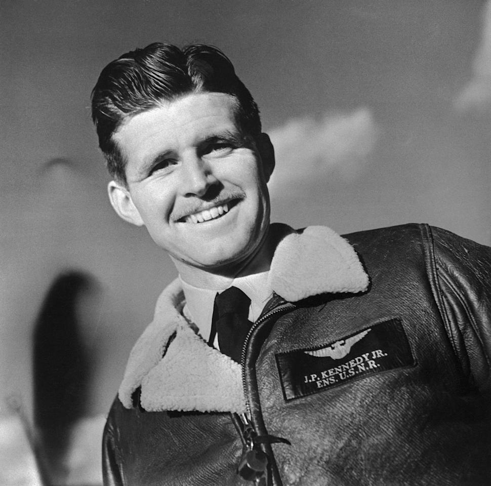 """In 1944, while serving in the United States Navy during World War II, Joseph P. Kennedy was <a href=""""https://www.jfklibrary.org/learn/about-jfk/the-kennedy-family/joseph-p-kennedy-jr"""">killed in a plane crash</a>. The eldest child of Joseph and Rose Kennedy, and President Kennedy's brother, he was 29 years old."""