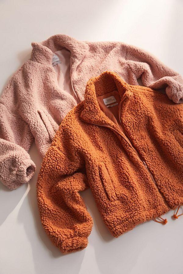 "More coziness! Get it for $91.15 at <a href=""https://www.urbanoutfitters.com/shop/uo-willow-fuzzy-drawstring-teddy-jacket?category=gift-ideas-for-women&amp;color=025&amp;type=REGULAR"" target=""_blank"" rel=""noopener noreferrer"">Urban Outfitters</a>."