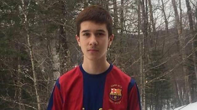 Philippe Volek says he decided to wear a soccer jersey to his Quebec high school after hearing about a nationwide Jersey Day event. (Photo: t <span>he Canadian Press/HO, Philippe Volek)</span>
