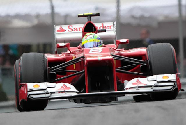 Ferrari's Brazilian driver Felipe Massa drives at the Circuit de Monaco on May 27, 2012 in Monte Carlo during the Monaco Formula One Grand Prix. AFP PHOTO / JEAN-CHRISTOPHE MAGNENETPATRICE COPPEE/AFP/GettyImages