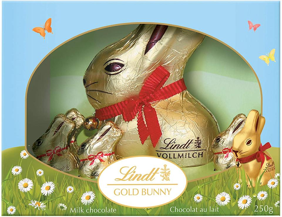 Lindt Easter Gold Bunny Gift Box Milk Chocolate. Image via Amazon.