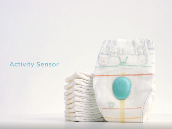 Nappies come with a detachable sensor (Pampers)
