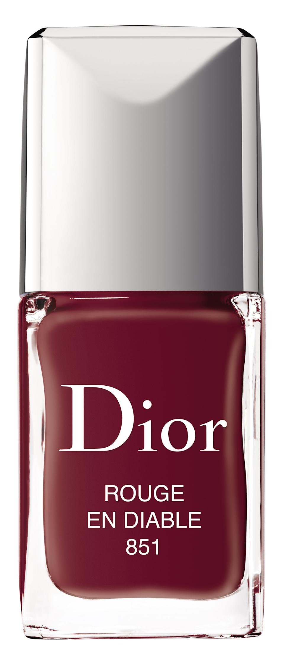 "<h3>Dior Vernis Nail Lacquer in <strong>Rouge en Diable</strong></h3><br>Dior carries a gorgeous lacquer that's just a tiny bit warmer than the others. The shade name, Rouge en Diable, means Devil Red.<br><br><strong>Dior</strong> Dior Vernis, $, available at <a href=""https://www.dior.com/en_us/products/beauty-Y0002959_F000355999-dior-vernis-couture-color-gel-shine-long-wear-nail-lacquer?gclid=EAIaIQobChMI15uKpKWu5wIVBKSzCh2kdgXyEAYYASABEgLHwfD_BwE&gclsrc=aw.ds"" rel=""nofollow noopener"" target=""_blank"" data-ylk=""slk:Dior"" class=""link rapid-noclick-resp"">Dior</a>"