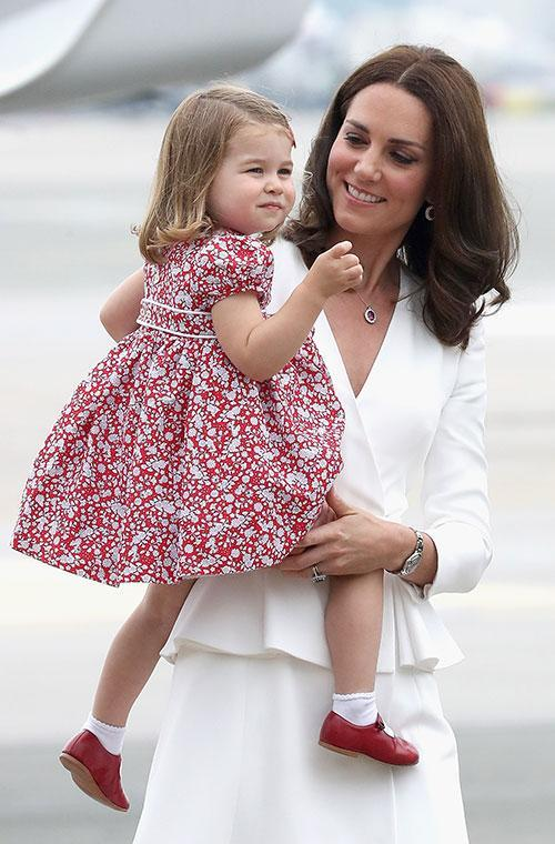 Young Princess Charlotte looked delighted to be on tour.