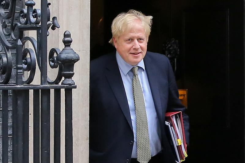 British Prime Minister, Boris Johnson leaves no 10 Downing Street for Houses of Parliament in London. (Photo by Dinendra Haria / SOPA Images/Sipa USA)