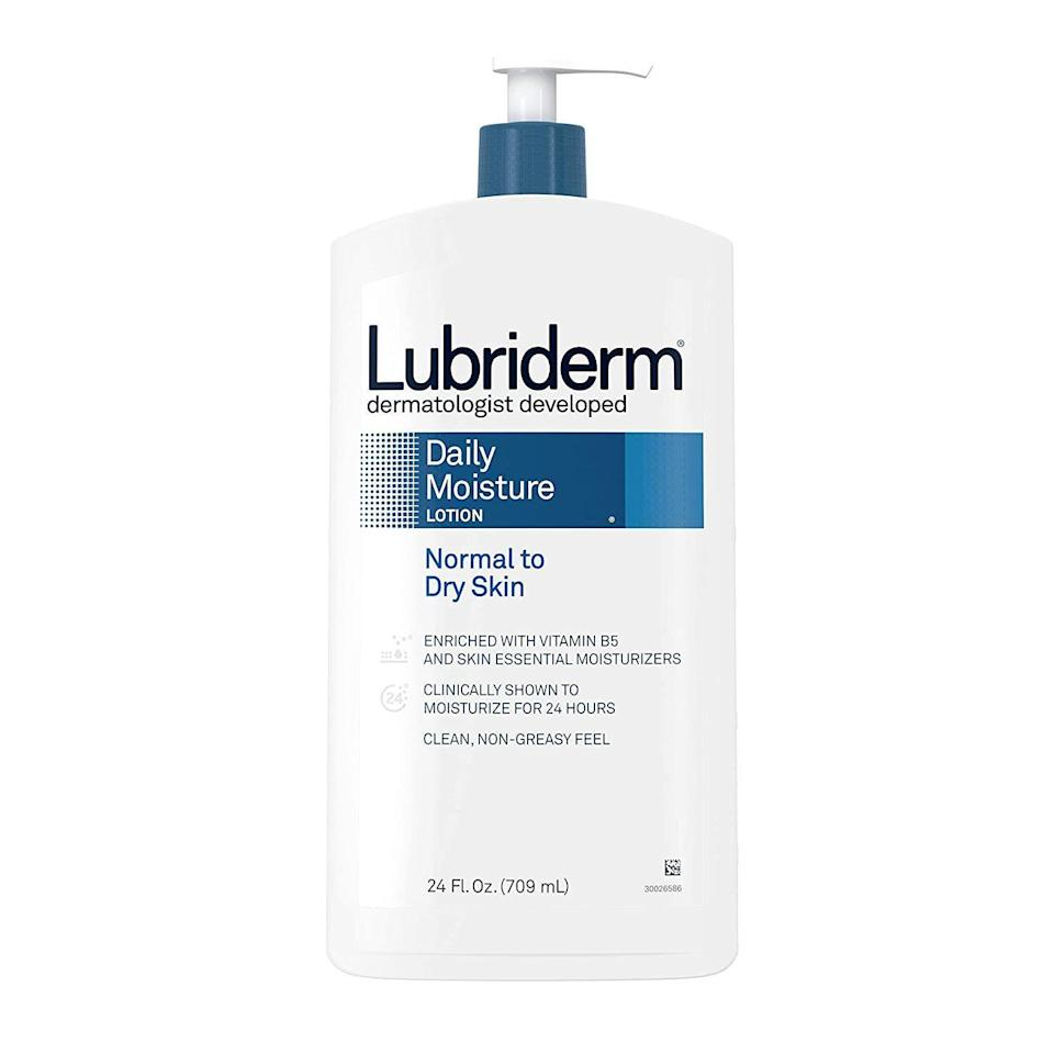 """<p><strong>Lubriderm</strong></p><p>amazon.com</p><p><strong>$7.68</strong></p><p><a href=""""https://www.amazon.com/dp/B003JT8PKQ?tag=syn-yahoo-20&ascsubtag=%5Bartid%7C10054.g.36719600%5Bsrc%7Cyahoo-us"""" rel=""""nofollow noopener"""" target=""""_blank"""" data-ylk=""""slk:Shop Now"""" class=""""link rapid-noclick-resp"""">Shop Now</a></p><p>After the initial aftercare phase is over and your tattoo is healed, you still want to treat it with care. That means, as Dr. Woo says, looking for fragrance-free options that are less likely to irritate the skin. You can't go wrong with this classic lotion, which for the record is also a favorite of tattooers to keep skin and tattoos healthy—no matter how old they are.</p>"""