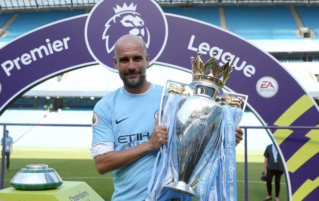Pep Guardiola guided City to the Premier League title for a third time in 2020-21 (Martin Rickett/PA).