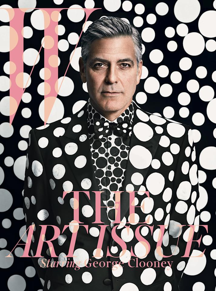 George Clooney photographed by Emma Summerton for the cover of W Magazine, December / January 2014.