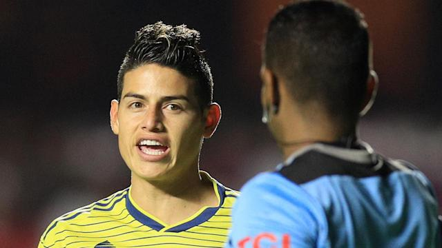 James Rodriguez, Referee, Colombia vs Qatar