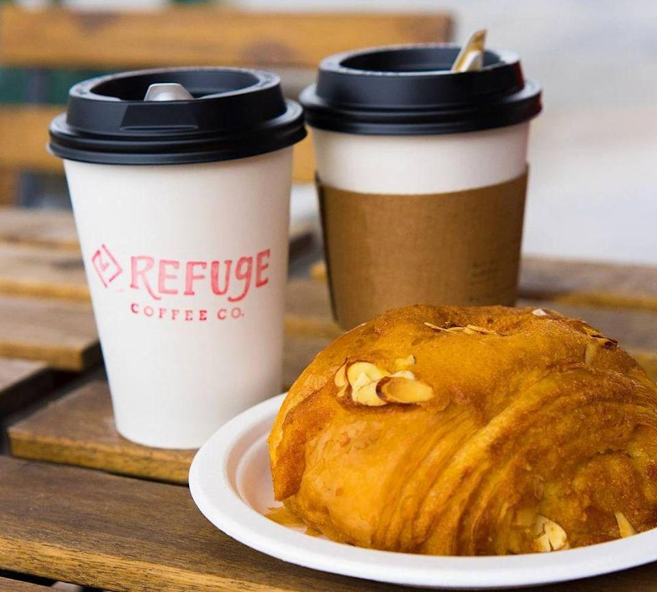 """<p><strong><a href=""""https://www.yelp.com/biz/refuge-coffee-co-clarkston"""" rel=""""nofollow noopener"""" target=""""_blank"""" data-ylk=""""slk:Refuge Coffee Co"""" class=""""link rapid-noclick-resp"""">Refuge Coffee Co</a>, Clarkston</strong></p><p>""""I ordered a cappuccino and small drip coffee with the total equaling just $5 before tip! The cappuccino was delicious and strong and my friend's drip coffee was flavorful and just the caffeine fix she needed."""" – Yelp user <a href=""""https://www.yelp.com/user_details?userid=lrTsz4wmrquyN51b04V4FA"""" rel=""""nofollow noopener"""" target=""""_blank"""" data-ylk=""""slk:Dave P."""" class=""""link rapid-noclick-resp"""">Dave P.</a><br></p><p>Photo: Yelp/<a href=""""https://www.yelp.com/user_details?userid=5zau797CNaXMP4bhGcYQxQ"""" rel=""""nofollow noopener"""" target=""""_blank"""" data-ylk=""""slk:Paul K."""" class=""""link rapid-noclick-resp"""">Paul K.</a></p>"""