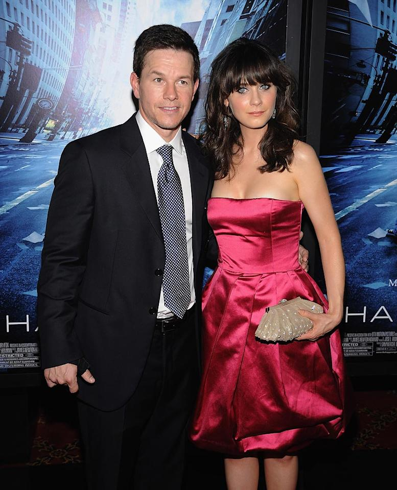 """<a href=""""http://movies.yahoo.com/movie/contributor/1800019716"""">Mark Wahlberg</a> and <a href=""""http://movies.yahoo.com/movie/contributor/1800019171"""">Zooey Deschanel</a> at the New York City premiere of <a href=""""http://movies.yahoo.com/movie/1809921595/info"""">The Happening</a> - 06/10/2008"""