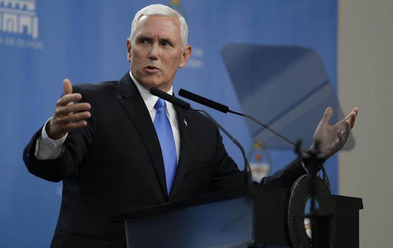 US Vice President Mike Pence: AP
