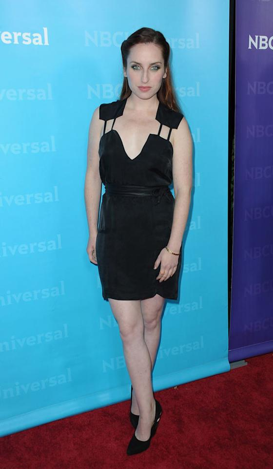 """<a href=""""/zoe-lister-jones/contributor/2152737"""">Zoe Lister-Jones</a> (""""<a href=""""/whitney/show/47396"""">Whitney</a>"""") attends the 2012 NBC Universal Winter TCA All-Star Party at The Athenaeum on January 6, 2012 in Pasadena, California."""