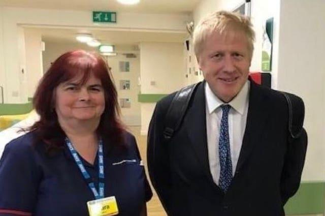 Mrs Trollope with Prime Minister Boris Johnson