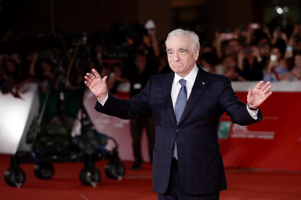 """ROME, ITALY - OCTOBER 21: Director Martin Scorsese attends """"The Irishman"""" red carpet during the 14th Rome Film Festival on October 21, 2019 in Rome, Italy. (Photo by Vittorio Zunino Celotto/Getty Images for Netflix)"""