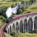 "<p>The wonderful <a href=""https://www.goodhousekeeping.com/uk/lifestyle/travel/a33642336/harry-potter-train-scotland/"" rel=""nofollow noopener"" target=""_blank"" data-ylk=""slk:Jacobite"" class=""link rapid-noclick-resp"">Jacobite</a> steam train takes rail holidaymakers from Fort William to Mallaig on an 84-mile steam-hauled journey through spectacular Scottish Highland scenery. </p><p>You'll encounter craggy coastlines and sparkling loch waters on a route that's packed with superlatives.</p><p>One highlight is passing over the amazing, 21-arch Glenfinnan Viaduct, just like Harry Potter did in the films.</p><p><strong>You can ride the steam train next summer on a classic tour that also takes in the world's last ocean-going paddle steamer from £1,195 per person.</strong> </p><p><a class=""link rapid-noclick-resp"" href=""https://www.goodhousekeepingholidays.com/tours/scotland-highlands-steam-train-jacobite"" rel=""nofollow noopener"" target=""_blank"" data-ylk=""slk:FIND OUT MORE"">FIND OUT MORE</a></p>"