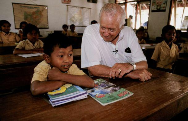 PHOTO: Hugh Downs is seen in Indonesia in 1999. (Jim Holmes/ABC)