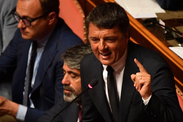 Matteo Renzi (Photo by ANDREAS SOLARO/AFP via Getty Images)