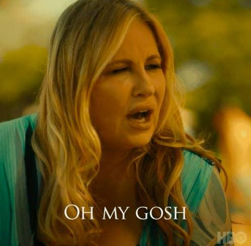 """Jennifer's character from The White Lotus with the caption """"Oh My Gosh"""""""