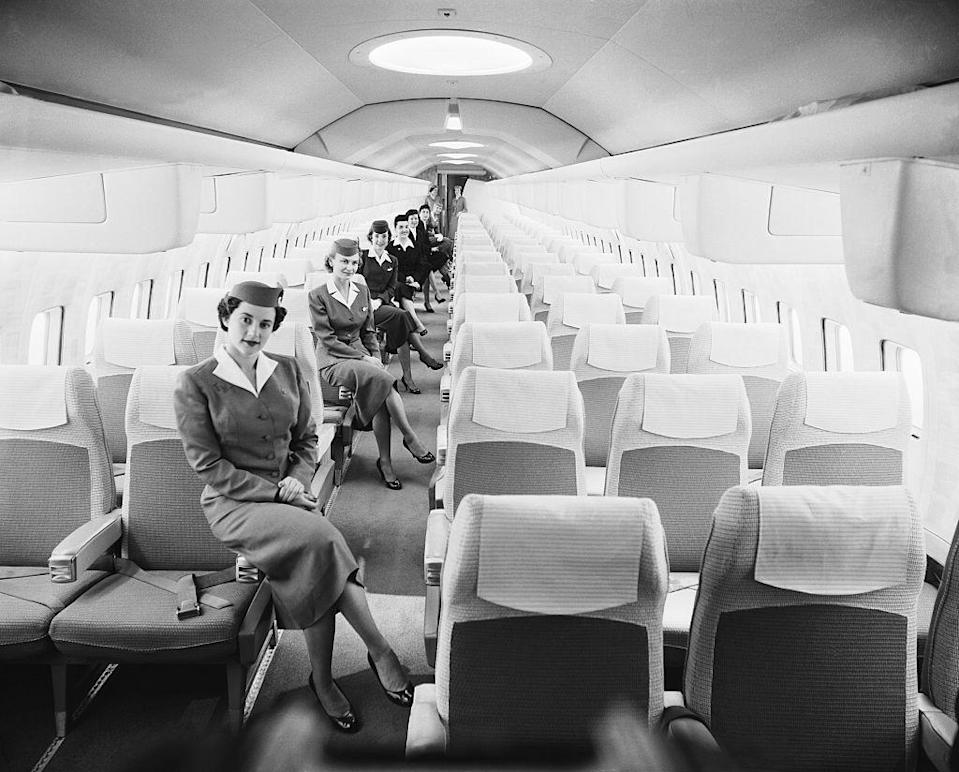 "<p>The 1950s ushered in the ""Golden Age of Travel."" Commercial air travel became more accessible to the public, and altogether more luxurious for the rich and famous. </p>"