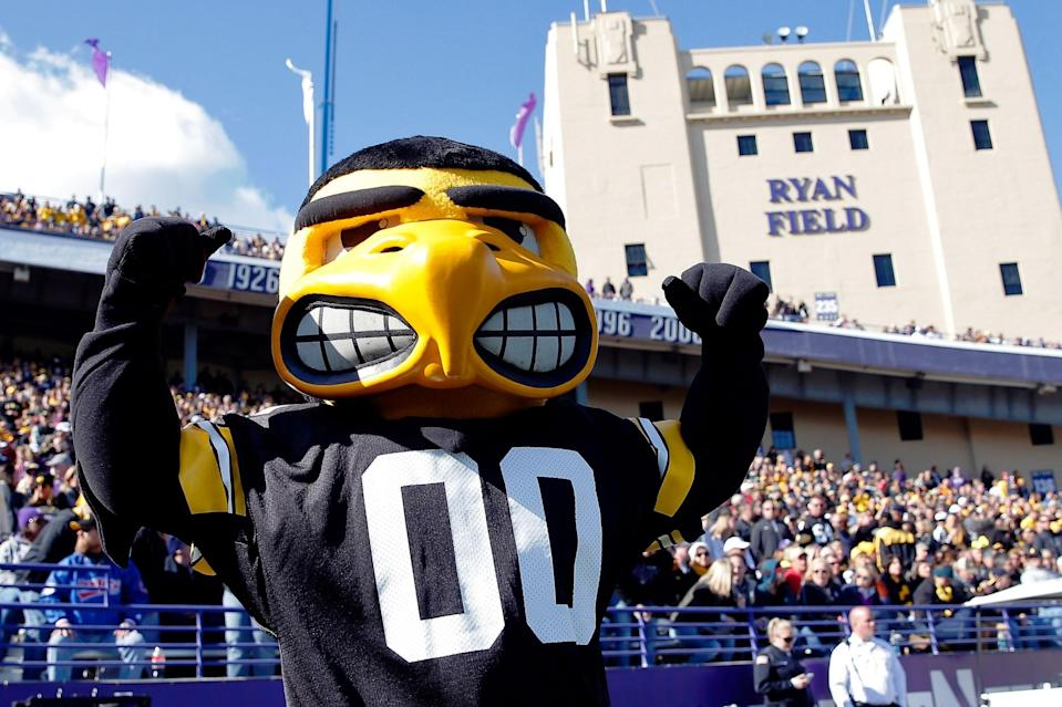 Do you think Herky needs to smile more? (Getty Images)