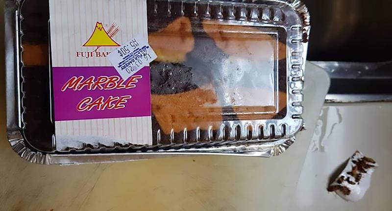 A Customer found live cockroaches in cake from a supermarket. Source: Newsflash/@sureshgita.suresh