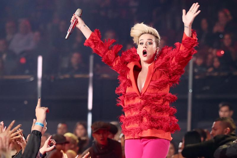 Controversial: Katy Perry's booking has sparked a backlash: Christopher Polk/Getty