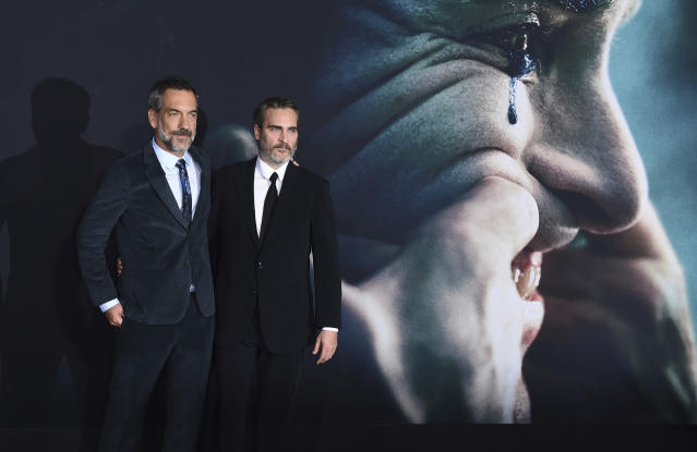 Director Todd Phillips and Joaquin Phoenix (Credit: Jordan Strauss/Invision/AP)