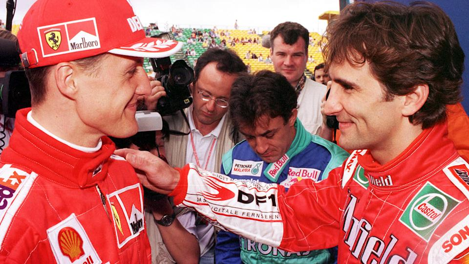 Michael Schumacher and Alex Zanardi, pictured here at the Australian Grand Prix in 1999.