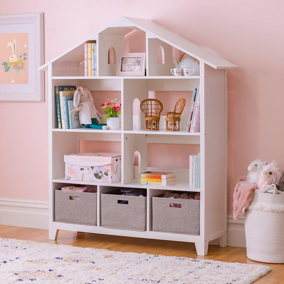 """<p><strong>$479.95</strong></p><p><a href=""""https://go.redirectingat.com?id=74968X1596630&url=https%3A%2F%2Fwww.wayfair.com%2Fbaby-kids%2Fpdp%2Fmartha-stewart-living-learning-kids-517-bookcase-mstt1557.html%3Fpiid%3D53581675&sref=https%3A%2F%2Fwww.redbookmag.com%2Fhome%2Fg36014277%2Ftoy-organizer-ideas%2F"""" rel=""""nofollow noopener"""" target=""""_blank"""" data-ylk=""""slk:Shop Now"""" class=""""link rapid-noclick-resp"""">Shop Now</a></p><p>This clever organization solution is not only going to be responsible for keeping toys and books orderly, it also serves as an adorable piece of decor. </p><p><strong>See more at <a href=""""https://guidecraft.com/martha-stewart-living-and-learning-kids-furniture/"""" rel=""""nofollow noopener"""" target=""""_blank"""" data-ylk=""""slk:GuideCraft.com"""" class=""""link rapid-noclick-resp"""">GuideCraft.com</a></strong></p><p><a class=""""link rapid-noclick-resp"""" href=""""https://go.redirectingat.com?id=74968X1596630&url=https%3A%2F%2Fwww.ikea.com%2Fus%2Fen%2Fp%2Fbesta-box-gray-00307552%2F&sref=https%3A%2F%2Fwww.redbookmag.com%2Fhome%2Fg36014277%2Ftoy-organizer-ideas%2F"""" rel=""""nofollow noopener"""" target=""""_blank"""" data-ylk=""""slk:SHOP FABRIC BINS"""">SHOP FABRIC BINS</a><strong><br></strong><strong><br></strong></p>"""