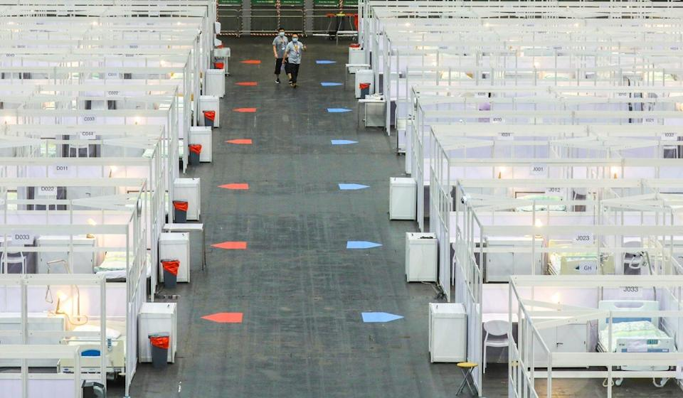 Facilities at the newly converted AsiaWorld-Expo in Chek Lap Kok. Photo: Dickson Lee