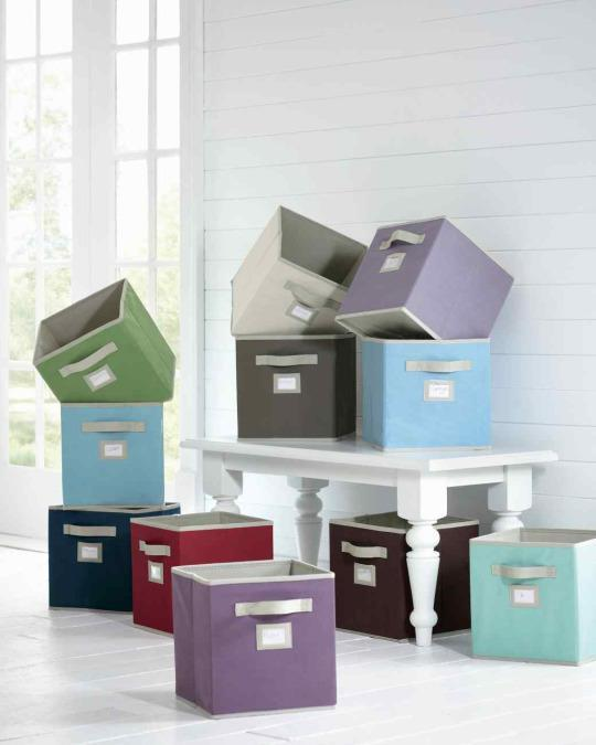 <p>Fabric cubes are an easy way to add instant organization to your closet. These soft bins are ideal places to store shoes you're not actively wearing or sweaters and extra blankets during the warmer months.</p><p><br></p>