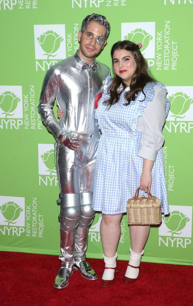 <p>As the Tin Man and Dorothy from <em>The Wizard of Oz</em>.</p>