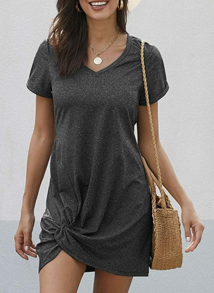 <p>The front knot of this <span>Dearlovers T-Shirt Dress</span> ($20) is a fun addition that makes it stand out. </p>