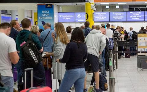 A general view of the Thomas Cook check-in desks in the South Terminal of Gatwick Airport - Credit: PA