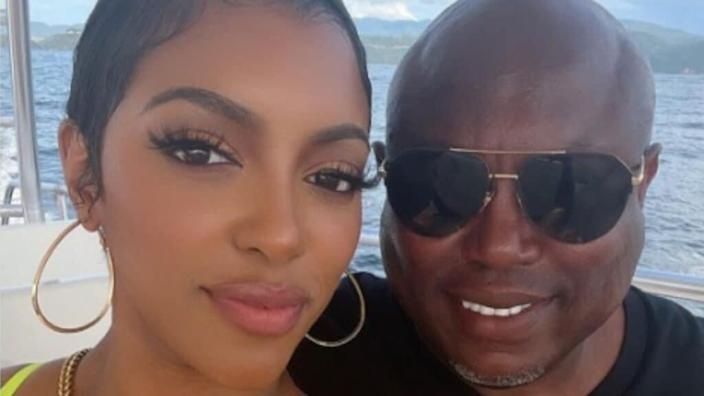 Porsha Williams reveals her fiance's name tattooed on her neck