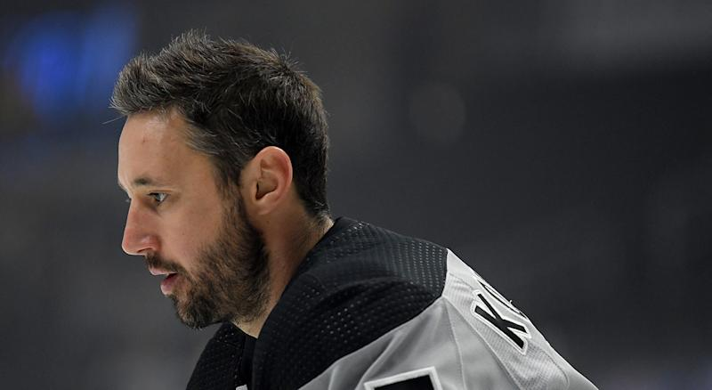 LOS ANGELES, CALIFORNIA - OCTOBER 12: Ilya Kovalchuk #17 of the Los Angeles Kings skates during warm up before the game against the Nashville Predators at Staples Center on October 12, 2019 in Los Angeles, California. (Photo by Harry How/Getty Images)
