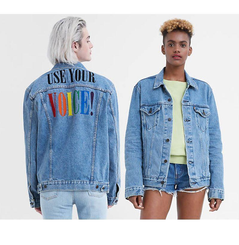 """<p><strong>Levi's</strong></p><p>levi.com</p><p><strong>$118.00</strong></p><p><a href=""""https://go.redirectingat.com?id=74968X1596630&url=https%3A%2F%2Fwww.levi.com%2FUS%2Fen_US%2Fapparel%2Fclothing%2Ftops%2Flevis-pride-trucker-jacket%2Fp%2F723340490&sref=https%3A%2F%2Fwww.esquire.com%2Fstyle%2Fmens-fashion%2Fg33003059%2Flgbtq-pride-brands-products-to-buy-support%2F"""" rel=""""nofollow noopener"""" target=""""_blank"""" data-ylk=""""slk:Buy"""" class=""""link rapid-noclick-resp"""">Buy</a></p><p>Levi's is donating 100 percent of net proceeds from its Pride collection to <a href=""""https://outrightinternational.org/what-outright-fights-for?gclid=CjwKCAjwxev3BRBBEiwAiB_PWBpB1HP-6e13VmhWZRCW4Gw2nN6TnO3JVy6UPofVMxerVdiW_50ImxoC7qIQAvD_BwE"""" rel=""""nofollow noopener"""" target=""""_blank"""" data-ylk=""""slk:OutRight Action International"""" class=""""link rapid-noclick-resp"""">OutRight Action International</a>. </p>"""