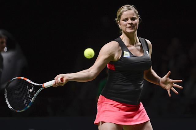 Kim Clijsters (Photo credit should read DIRK WAEM/AFP/Getty Images)