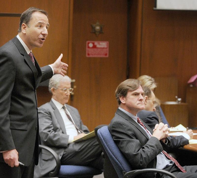 Prosecutor Habib Balian makes his final arguments in the murder trial of Christian Karl Gerhartsreiter, at Clara Shortridge Foltz Criminal Justice Center in Los Angeles Tuesday, April 9, 2013. Gerhartsreiter  has pleaded not guilty to the killing of John Sohus, 27, who disappeared with his wife, Linda, in 1985 while Gerhartsreiter was a guest cottage tenant at the home of Sohus' mother, where the couple lived. (AP Photo/San Gabriel Valley Tribune,Walter Mancini, Pool )