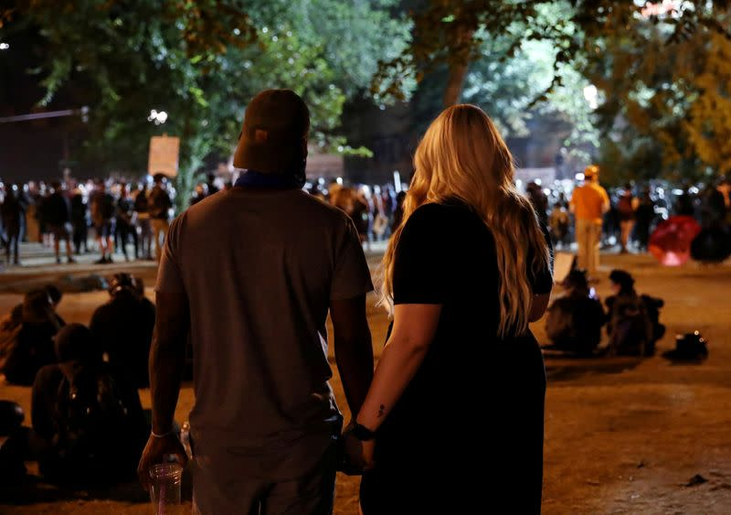 FILE PHOTO: Protest against racial inequality in Portland